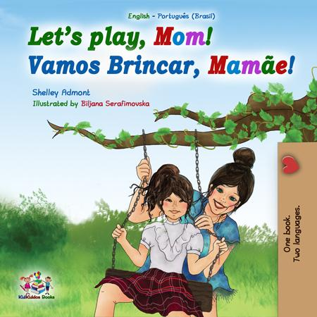 Bilingual-English-Brazilian-Portuguese-kids-book-lets-play-mom-cover