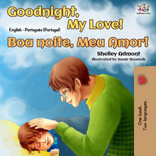 Bilingual-English-Portuguese-Portugal-children's-boys-book-Goodnight,-My-Love-cover