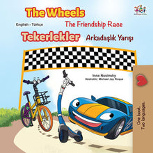 Bilingual-English-Turkish-kids-cars-story-Wheels-The-Friendship-Race-cover