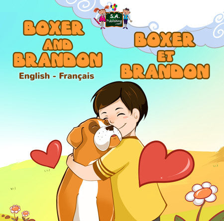 English-French-Bilignual-children's-dogs-book-Boxer-and-Brandon-cover