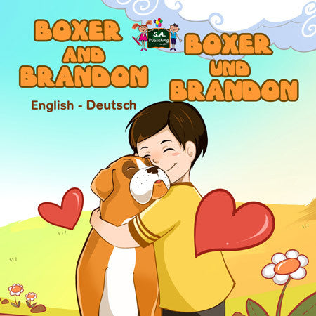 English-German-Bilingual-bedtime-story-for-children-Boxer-and-Brandon-KidKiddos-Books-cover