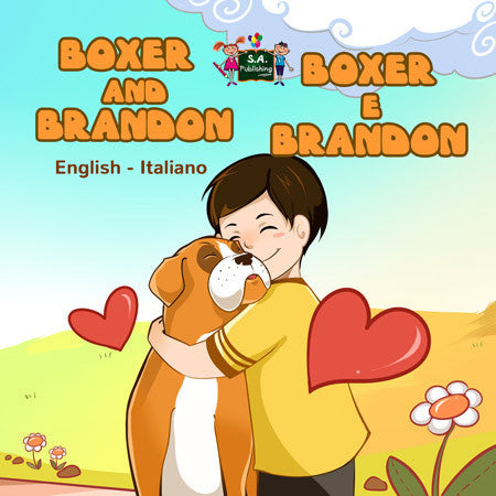 English-Italian-Bilingual-children's-dogs-bedtime-story-Boxer-and-Brandon-cover