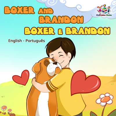 Boxer-and-Brandon-English-Portuguese-Bilingual-children's-dogs-bedtime-story-cover
