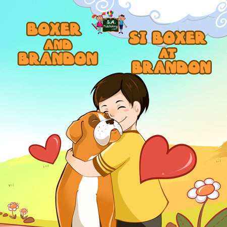 English-Tagalog-Filipino-Bilingual-children's-picture-book-Boxer-and-Brandon-cover