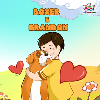 Boxer-and-Brandon-Portuguese-language-children's-dogs-friendship-story-cover