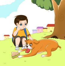Portuguese-Portugal-language-children's-dogs-friendship-story-Boxer-and-Brandon-page7