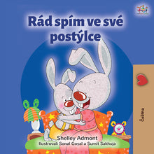 Czech-language-bedtime-story-for-kids-Shelley-Admont-I-Love-to-Sleep-in-My-Own-Bed-cover