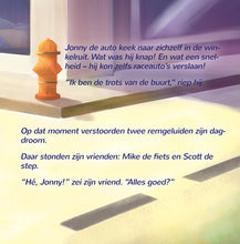 Dutch-children's-cars-picture-book-Wheels-The-Friendship-Race-page1