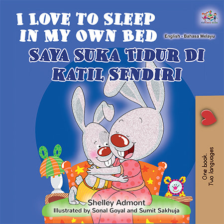 English-Malay-Bilingual-Children's-bunnies-Story-I-Love-to-Sleep-in-My-Own-Bed-cover