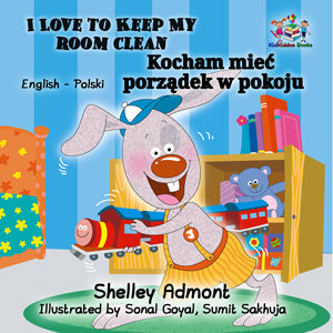 English-Polish-Bilingual-Bedtime-Story-for-kids-I-Love-to-Keep-My-Room-Clean-cover