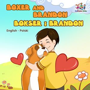 English-Polish-Bilingual-children's-dogs-bedtime-story-Boxer-and-Brandon-cover