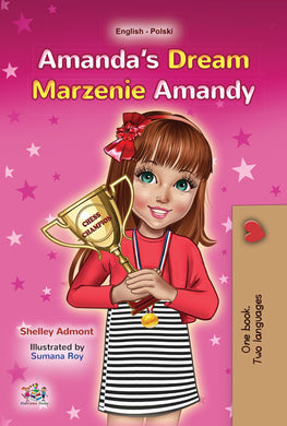 English-Polish-bilingual-childrens-book-Amandas-Dream-cover