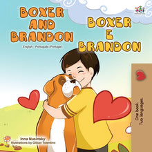 English-Portuguese-Portugal-Bilignual-children's-dogs-book-Boxer-and-Brandon-cover