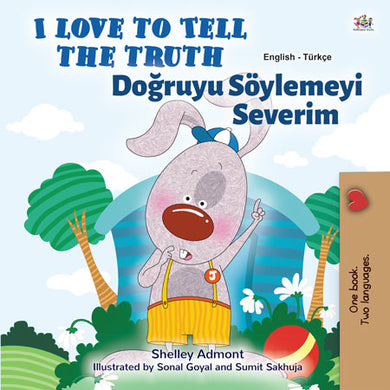 English-Turkish-Bilingual-children's-bedtime-story-I-Love-to-Tell-the-Truth-Shelley-Admont-cover
