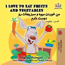 Farsi-Persian-Bilingual-childrens-picture-book-KidKiddos-I-Love-to-Eat-Fruits-and-Vegetables-cover