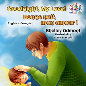 English-French-Bilignual-children's-boys-book-Goodnight,-My-Love-cover