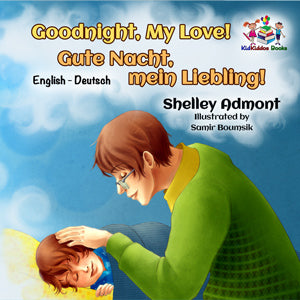 English-German-Bilignual-children's-boys-book-Goodnight,-My-Love-cover