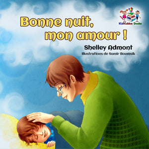 French-language-children's-picture-book-Goodnight,-My-Love-cover