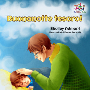 Italian-language-children's-picture-book-Goodnight,-My-Love-cover