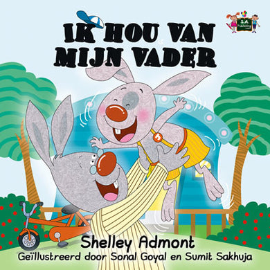 Dutch-Language-children's-bunnies-book-I-Love-My-Dad-Shelley-Admont-KidKiddos-cover