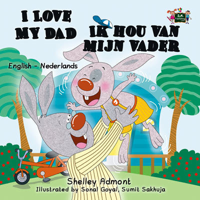 English-Dutch-Bilingual-book-for-kids-I-Love-My-Dad-Shelley-Admont-cover