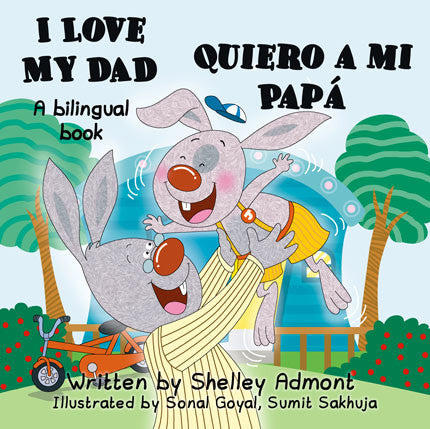 English-Spanish-Bilingual-kids-book-Shelley-Admont-I-Love-My-Dad-cover