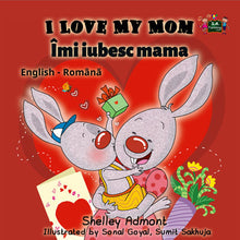 Bilingual-English-Romanian-childrens-book-I-Love-My-Mom-by-KidKiddos-cover