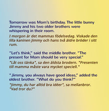 English-Swedish-I-Love-My-Mom-childrens-book-about-bunnies-by-Shelley-Admont-page1