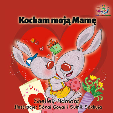 Polish-language-kids-bedtime-story-I-Love-My-Mom-Shelley-Admont-cover