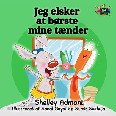 Danish-language-children's-picture-book-I-Love-to-Brush-My-Teeth-Shelley-Admont-KidKiddos-cover