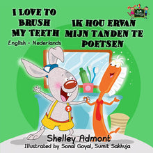 English-Dutch-Bilingual-bedtime-story-for-kids-I-Love-to-Brush-My-Teeth-Shelley-Admont-KidKiddos-cover