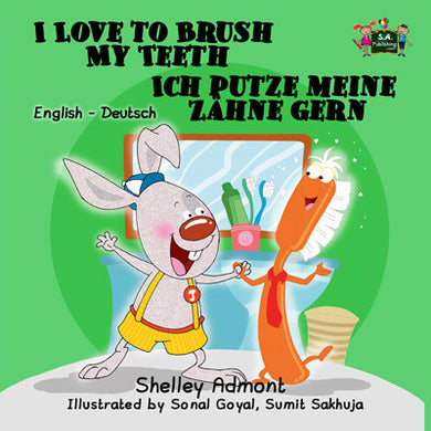 I-Love-to-Brush-My-Teeth-English-German-Bilingual-bedtime-story-for-kids-Shelley-Admont-KidKiddos-cover