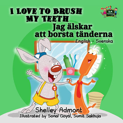 English-Swedish-Bilingual-kids-book-I-Love-to-Brush-My-Teeth-cover