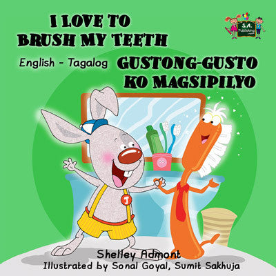 English-Tagalog-Bilingual-kids-book-I-Love-to-Brush-My-Teeth-cover
