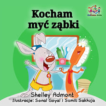 I-Love-to-Brush-My-Teeth-Polish-language-children's-picture-book-Shelley-Admont-KidKiddos-cover