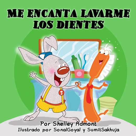 Spanish-language-children's-book-I-Love-to-Brush-My-Teeth-Shelley-Admont-cover