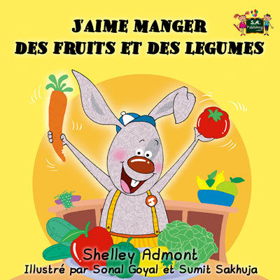 French-language-children's-bedtime-story-I-Love-to-Eat-Fruits-and-Vegetables-KidKiddos-Books-cover