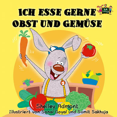German-language-kids-bunnies-book-I-Love-to-Eat-Fruits-and-Vegetables-Shelley-Admont-cover