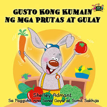 Tagalog-Filipino-language-children's-bedtime-story-I-Love-to-Eat-Fruits-and-Vegetables-KidKiddos-Books-cover