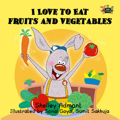 I Love To Eat Fruits And Vegetables Children's Book By Shelley Admont –  KidKiddos Books