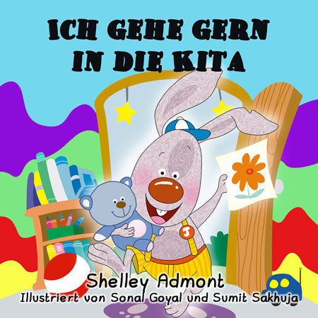 German-language-chidlrens-bedtime-story-I-Love-to-Go-to-Daycare-cover