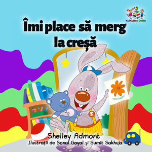 Romanian-language-chidlrens-bedtime-story-I-Love-to-Go-to-Daycare-cover