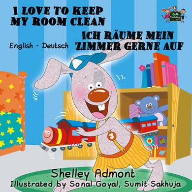 German-Bilingual-Bedtime-Story-for-kids-I-Love-to-Keep-My-Room-Clean-cover