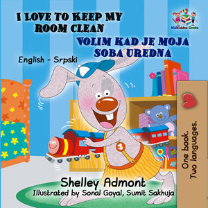 English-Serbian-Bilingual-Bedtime-Story-for-kids-I-Love-to-Keep-My-Room-Clean-cover