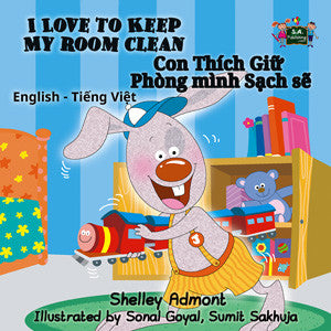 English-Vietnamese-Bilingual-Bedtime-Story-for-kids-I-Love-to-Keep-My-Room-Clean-cover