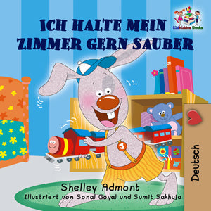 eBook: I Love to Keep My Room Clean (German Language Book for Kids)