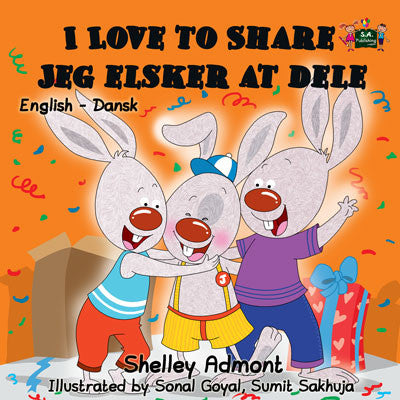 English-Danish-Bilingual-childrens-book-I-Love-to-Share-Shelley-Admont-cover