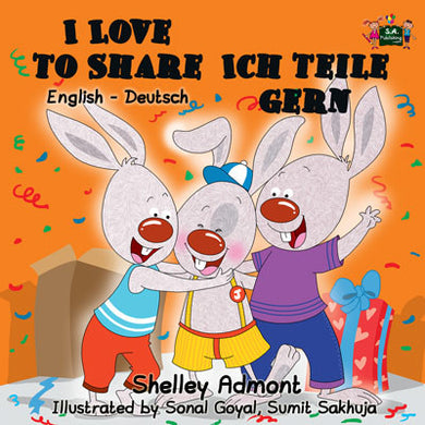 English-German-Bilingual-kids-picture-book-I-Love-to-Share-Shelley-Admont-cover