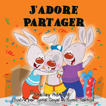 French-language-kids-book-about-bunnies-I-Love-to-Share-cover