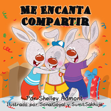 Spanish-language-kids-bunny-book-I-Love-to-Share-Shelely-Admont-cover